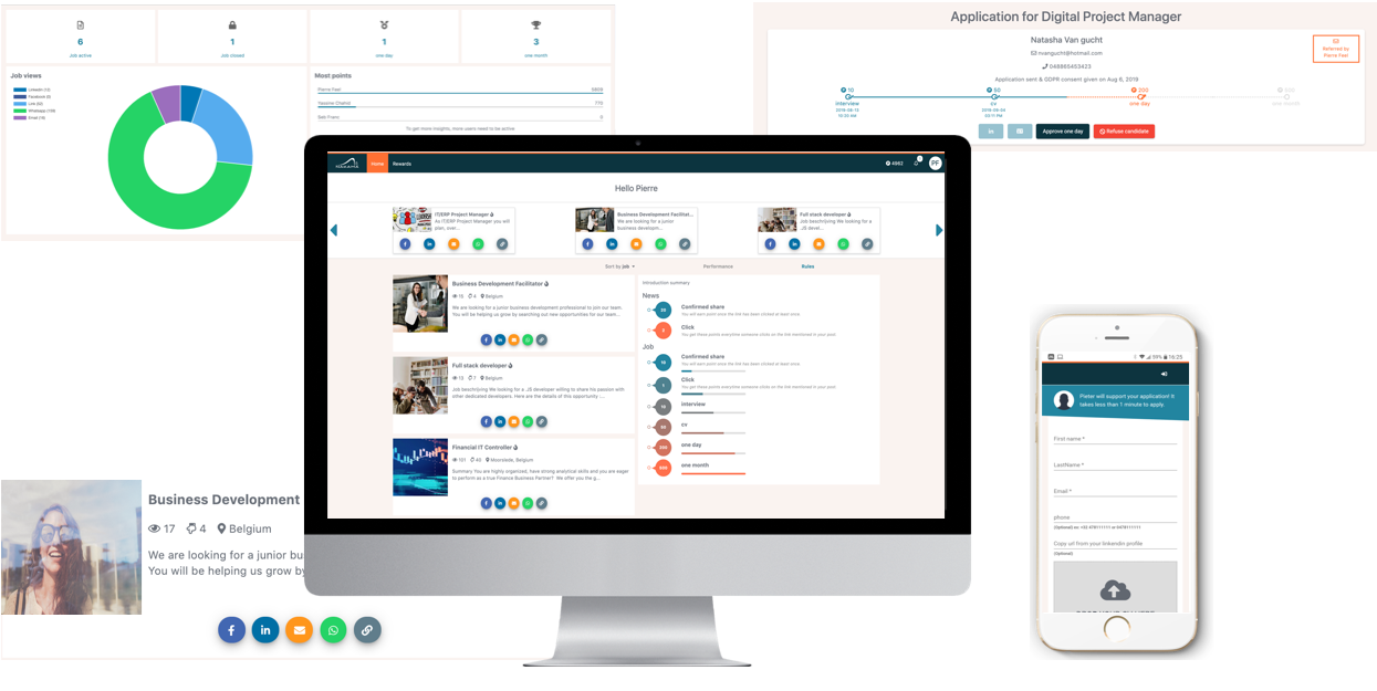 Dashboard Nakama HR - Referral tool voor Employer Branding
